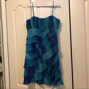 Blue Ombré Party Dress